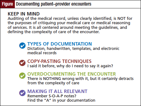 Documenting patient–provider encounters